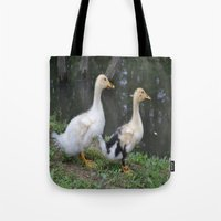 ducks Tote Bags featuring Ducks by Stephanie Owens