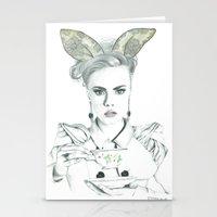 cara delevingne Stationery Cards featuring Cara Delevingne by Simona Borstnar