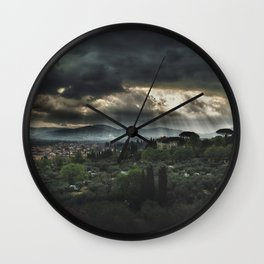 Beams of light over Florence Wall Clock