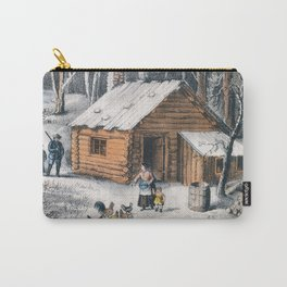 Vintage Home in The Wilderness Painting (1870) Carry-All Pouch