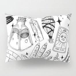 Fortune Teller Starter Pack Black and White Pillow Sham