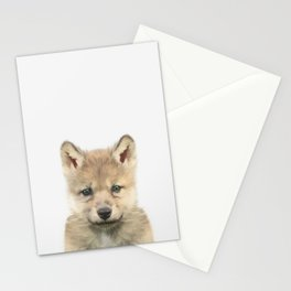 Baby Wolf Stationery Cards