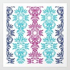 Batik Damask Art Print