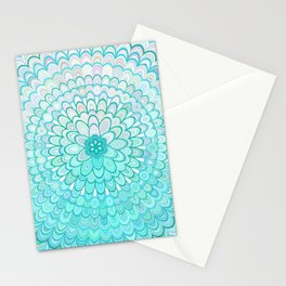 Ice Flower Mandala Stationery Cards