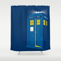 tardis Shower Curtains featuring TARDIS by Digital Arts & Crafts by eXistenZ