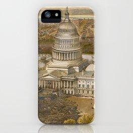Vintage Presidential Inauguration & Washington DC Map iPhone Case