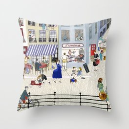 On the dike (in Ostend) Throw Pillow