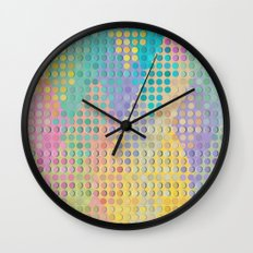 Colorful diamond hole punch Wall Clock