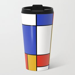 Abstract #401 Mondriaan #8 Travel Mug