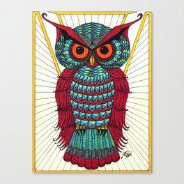 Faberge Owl Canvas Print