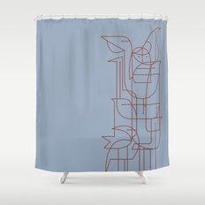Geometric Birds 2 Shower Curtain