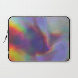 An abstract colorful holographic futuristic texture. Laptop Sleeve