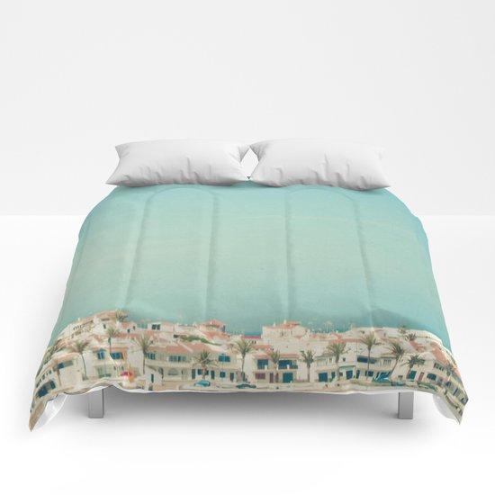 Mediterranean Skyline Comforters