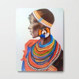 Masai Woman Metal Print