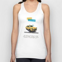 taxi driver Tank Tops featuring Taxi driver by Marta Colomer