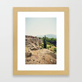 Edge of Pompeii Framed Art Print