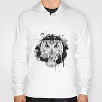 scandinavian Hoodies featuring Scandinavian Owl by Le Dous