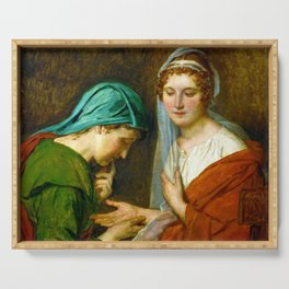 """Jacques-Louis David """"The Fortune Teller"""" Serving Tray"""