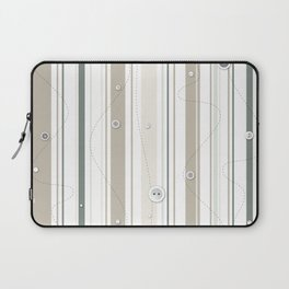 sewing lines and buttons  - grey and beige Laptop Sleeve