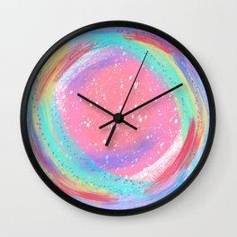 Candy Colored Circles Wall Clock