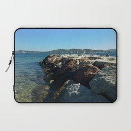 Breakwater opposite St. Tropez Laptop Sleeve