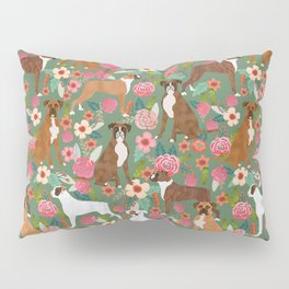 Boxer mixed coats dog breed florals pet gifts for boxers pupper must haves Pillow Sham
