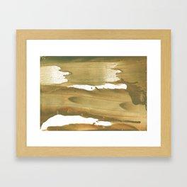 Dark khaki colored wash drawing paper Framed Art Print