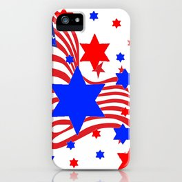 PATRIOTIC JULY 4TH AMERICAN FLAG ART iPhone Case