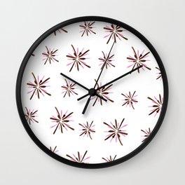 pink fireworks Wall Clock