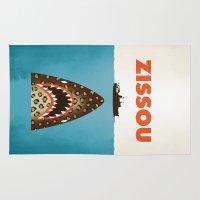 steve zissou Area & Throw Rugs featuring Zissou by Wharton