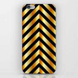 High grade raw material golden and black zigzag stripes iPhone Skin