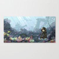 Underwater Gardener Canvas Print
