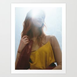 Woman in Light Art Print