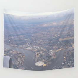 London From The Air Wall Tapestry