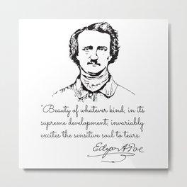 Edgar Allan Poe Vintage Metal Print
