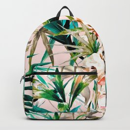 Pattern floral tropical 001 Backpack
