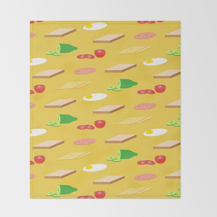 Breakfast Pattern Throw Blanket
