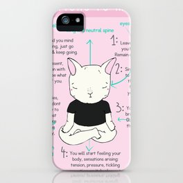 INSTRUCTIONS TO MEDITATE iPhone Case