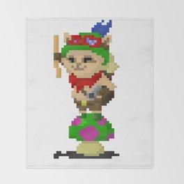 Pixel Teemo Throw Blanket