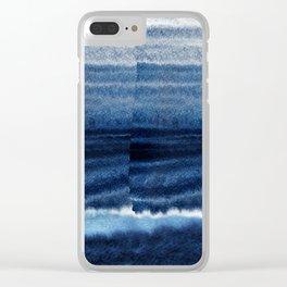 Blue Escape Watercolor Clear iPhone Case