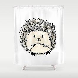 Hubert the Hedge Hog - hand drawn art Shower Curtain