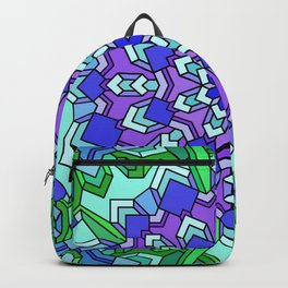 Kaleidoscope of Cool Colors Backpack