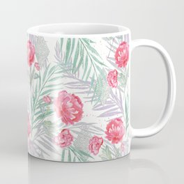 Carnations on a white background. Coffee Mug