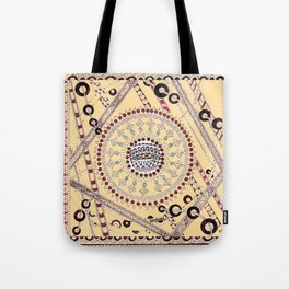 """Pillow Talk"" Zentangle Art desgned for Floor Pillows (Browns)-center3 Tote Bag"