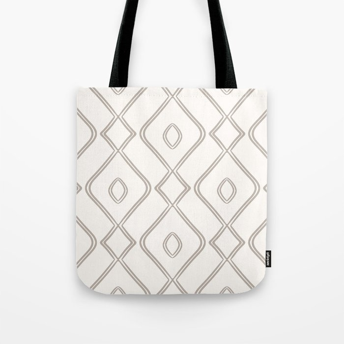 Modern Boho Ogee in Cream Tote Bag