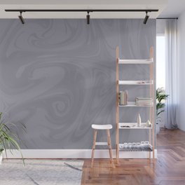 Pantone Lilac Gray Abstract Fluid Art Swirl Pattern Wall Mural
