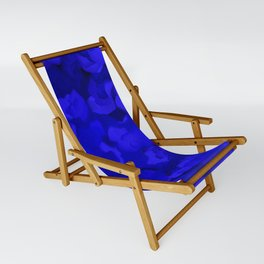 Rich Cobalt Blue Abstract Sling Chair