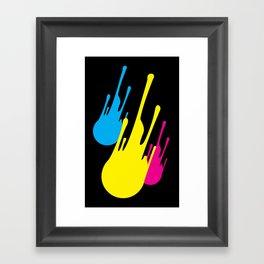 CMYKomet Framed Art Print
