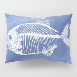 Memoria Amazonica - Blue Pastel Piranha Pillow Sham