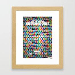 social media - neverending quest Framed Art Print